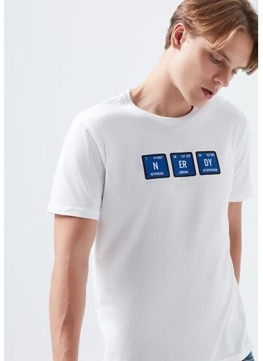 Mavi Erkek  Nerdy Baskılı  Tişört 066382-620 Beyaz